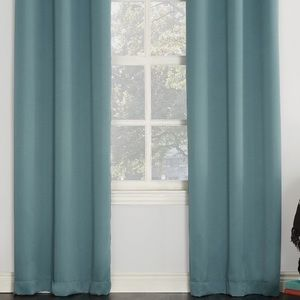 Other - 8 curtain panels 28x84 teal/gray/green color